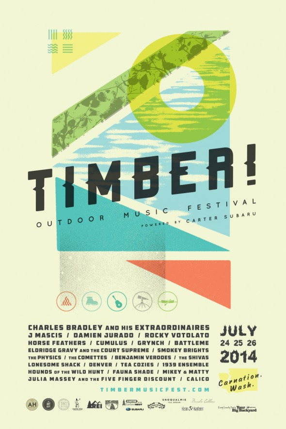 poster // TIIMBER! Outdoor Music Festival : 2014